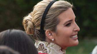 Ivanka Trump, daughter and assistant to U.S. President Donald Trump, was in attendance for the National Thanksgiving Turkey Pardoning Ceremony, in the Rose Garden of the White House in Washington, D.C., on November 21, 2017.  (Photo by Cheriss May) (Photo by Cheriss May/NurPhoto via Getty Images)