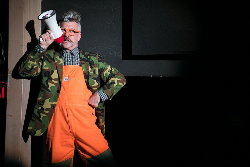 Kevin Clarke as Old Uncle in a scene from <strong><em>The Black Rider</em></strong>