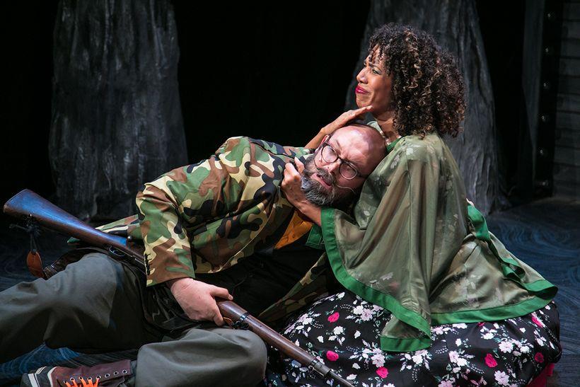 Steven Hess (Bertram) and Elizabeth Carter (Anne) in a scene from <strong><em>The Black Rider</em></strong>