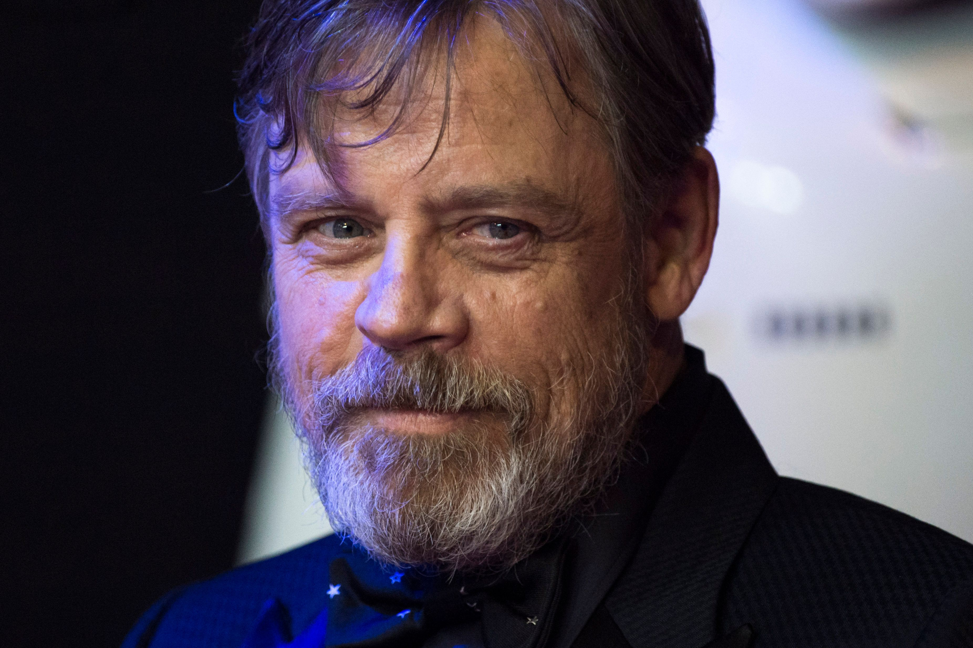 Mark Hamill attending the premiere of 'Star Wars: The Force Awakens' in Leicester Square, London