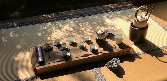 Pottery exhibition, Ryosoku-in Temple, Kyoto