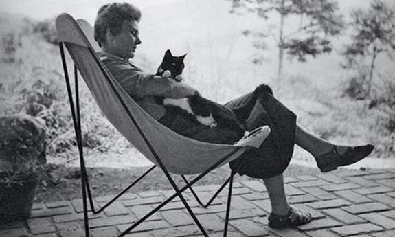 Elizabeth Bishop at Samambaia, the house she shared with Lota de Macedo Soares in Petropolis, Brazil