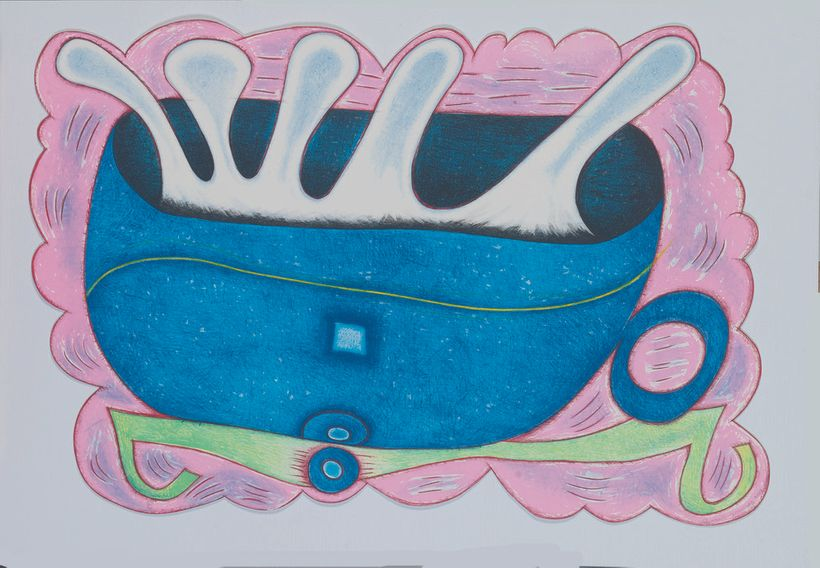 <em>Elizabeth Murray, DEEP BLUE C, 2001, 14-color lithograph&#x2F;screenprint, hand-cut</em>