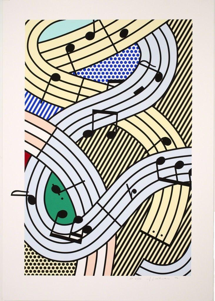 Roy Lichtenstein, COMPOSITION III, 1995, 10-color screenprint