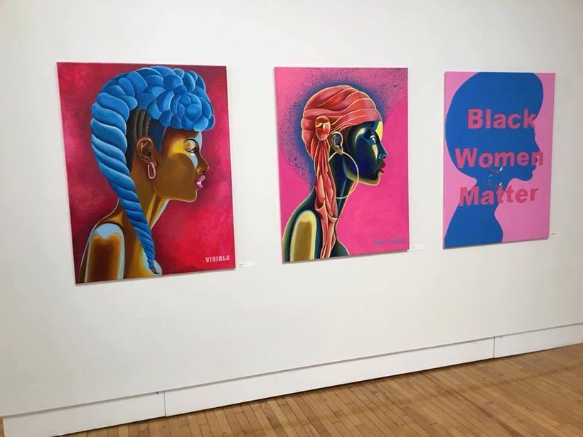 New work for Jenita Landrum in the #(UN) Define Visible/Invisible Black Women in Columbus, Ohio at Shot Tower Gallery. ""