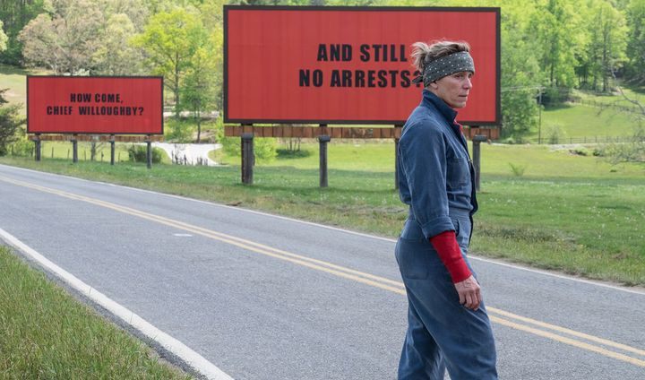 Frances McDormand in opening sequence of 3 Billboards