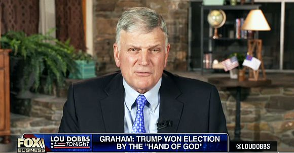 Franklin Graham: Trump Won Election By The 'Hand Of God'