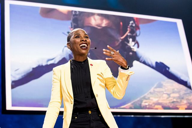 Luvvie  Ajayi speaks at TEDWomen 2017 — Bridges, November 1-3, 2017, Orpheum  Theatre, New Orleans, Louisiana.