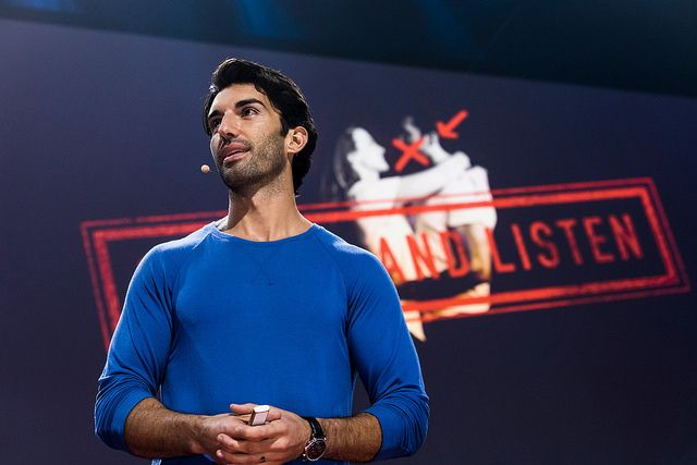 Justin  Baldoni speaks at TEDWomen 2017 — Bridges, November 1-3, 2017, Orpheum  Theatre, New Orleans, Louisiana.