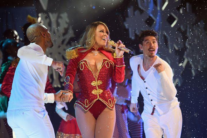Mariah Carey performing in New York last December.
