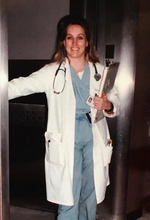 A younger Dr. Kronenberger at work - a lifelong passion for Medicine.