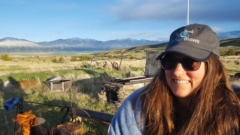 "At her ranch in Fish Creek, MT. ""She felt the calling of the majestic vastness of the Northern Rockies."""