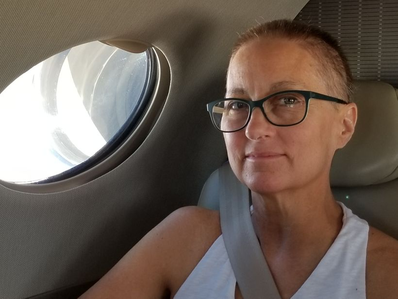 """""""She had always been an adventurer"""". Now on a different kind of journey - on her way to MD Anderson in Houston for treatment."""