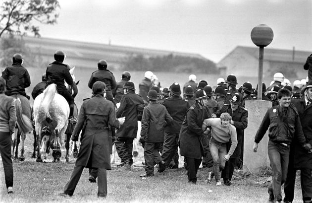 Violet scenes at the Battle of Orgreave in