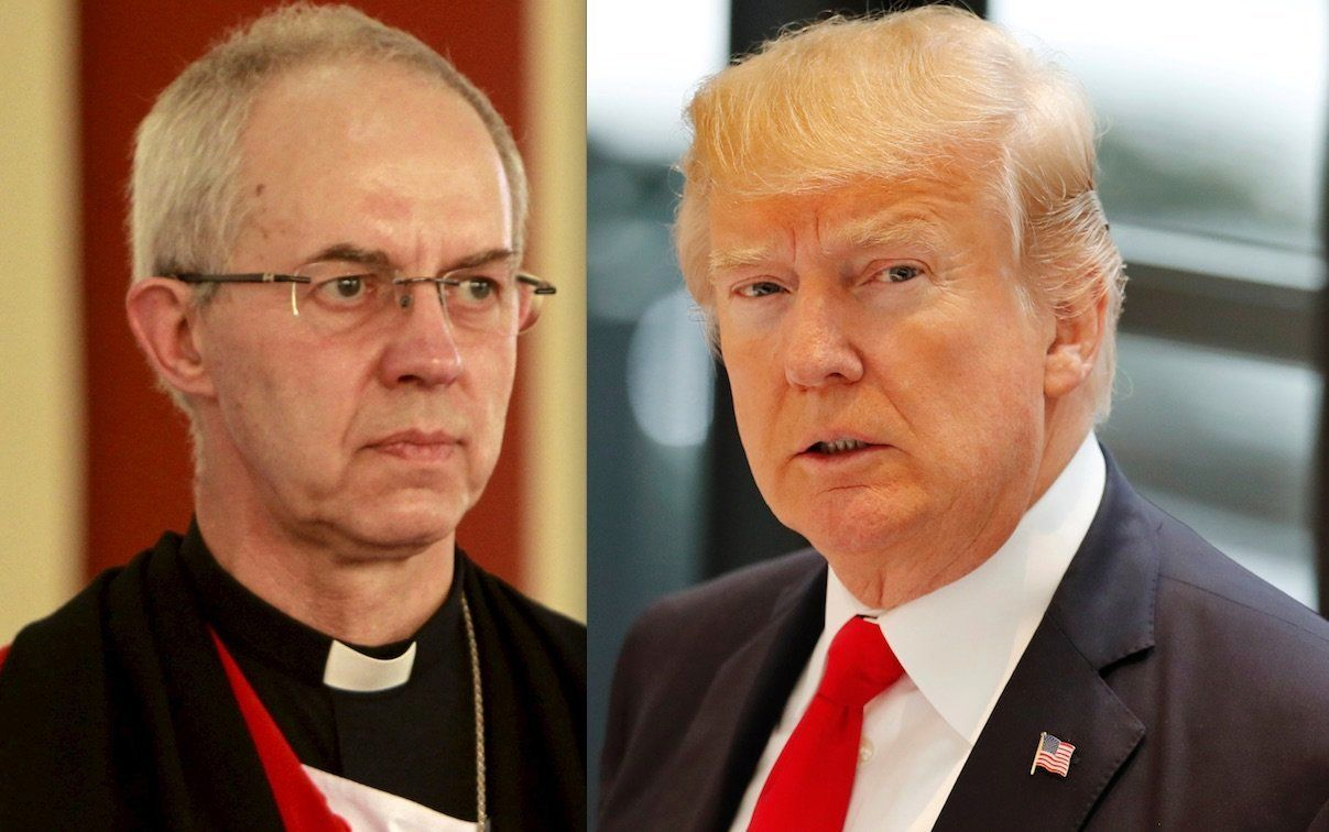 Justin Welby and Donald Trump