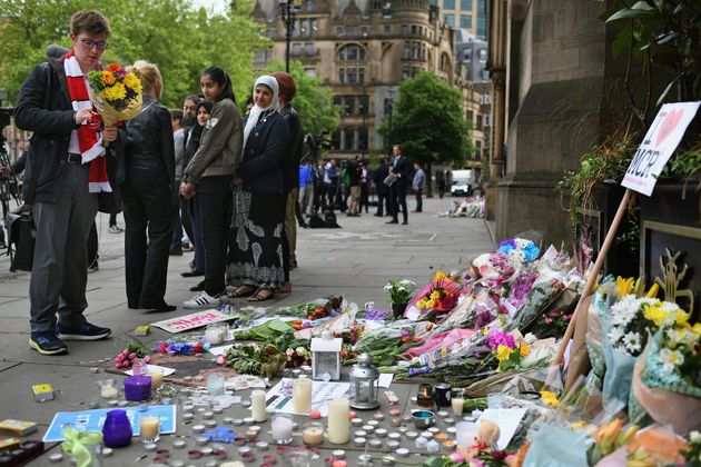 Tributes left for the victims of the Mancheste Arena