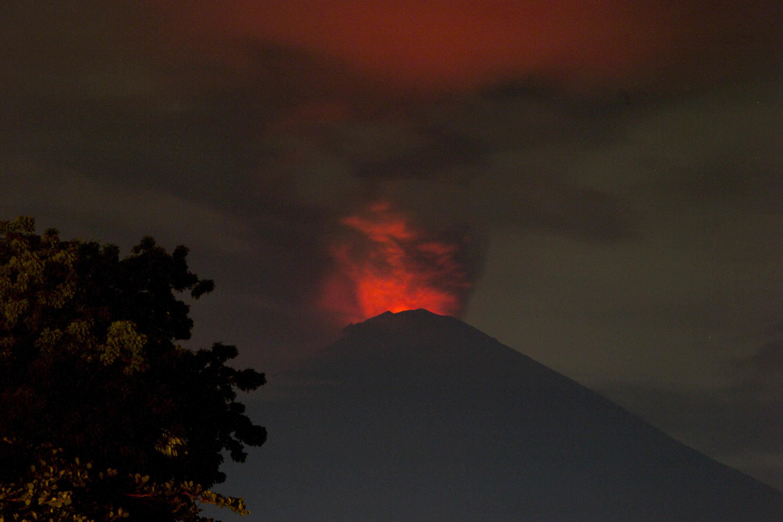 Tourists Stranded As 'Imminent' Eruption Sparks Highest Alert For Bali's Mount Agung