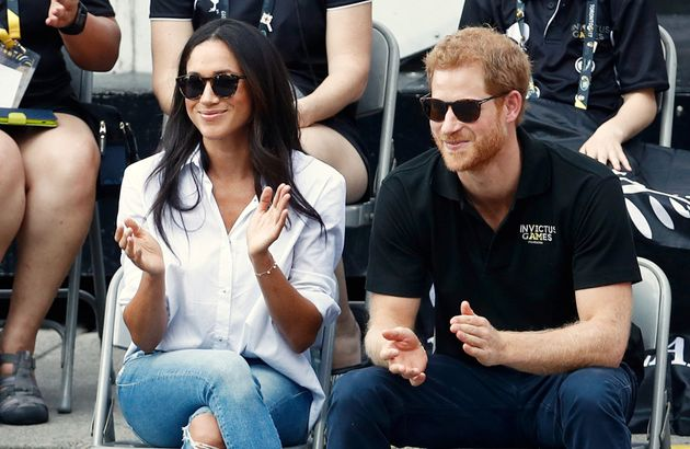 Prince Harry with Meghan Markle at the Invictus Games in Toronto in
