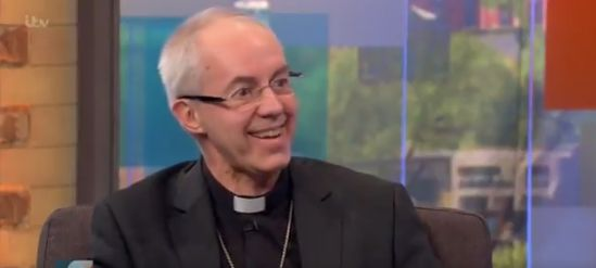 The Archbishop of Canterbury grinned sheepishly as he was questioned about the potential