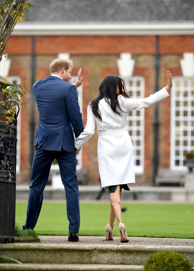 Prince Harry And Meghan Markle Pose For Their First Photos As An Engaged