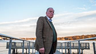 Alexander Gauland, co-leader of the far right 'Alternative for Germany' party (AfD), poses prior to an interview with AFP journalists on November 23, 2017 in Potsdam.  The far-right Alternative for Germany party sees Chancellor Angela Merkel's struggle to form a new government as proof of its growing power to upend the country's political order, a top party official told AFP. / AFP PHOTO / John MACDOUGALL / TO GO WITH AFP STORY by Deborah COLE        (Photo credit should read JOHN MACDOUGALL/AFP/Getty Images)