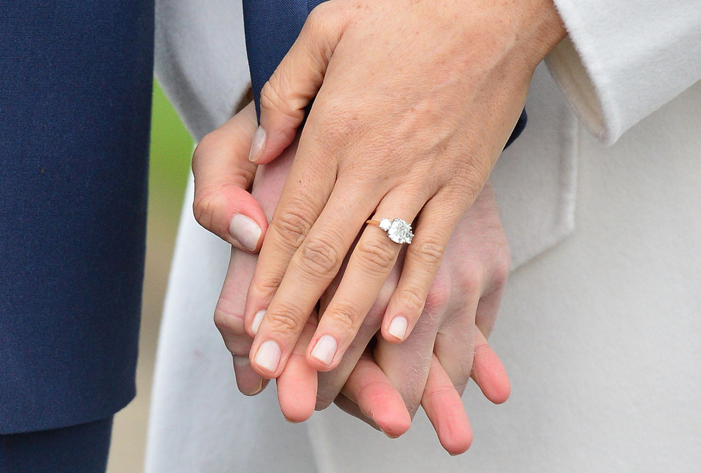 Where To Buy A Yellow Gold Trilogy Engagement Ring Like Meghan
