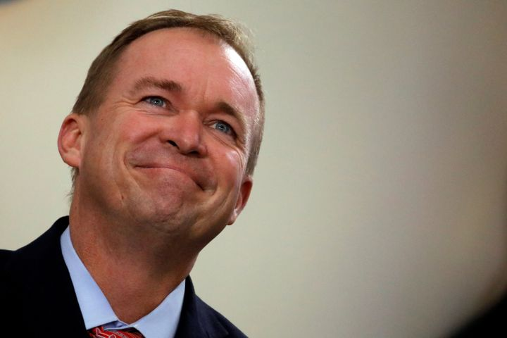 Office of Management and Budget Director Mick Mulvaney attends the daily briefing at the White House in Washington, U.S., Jul