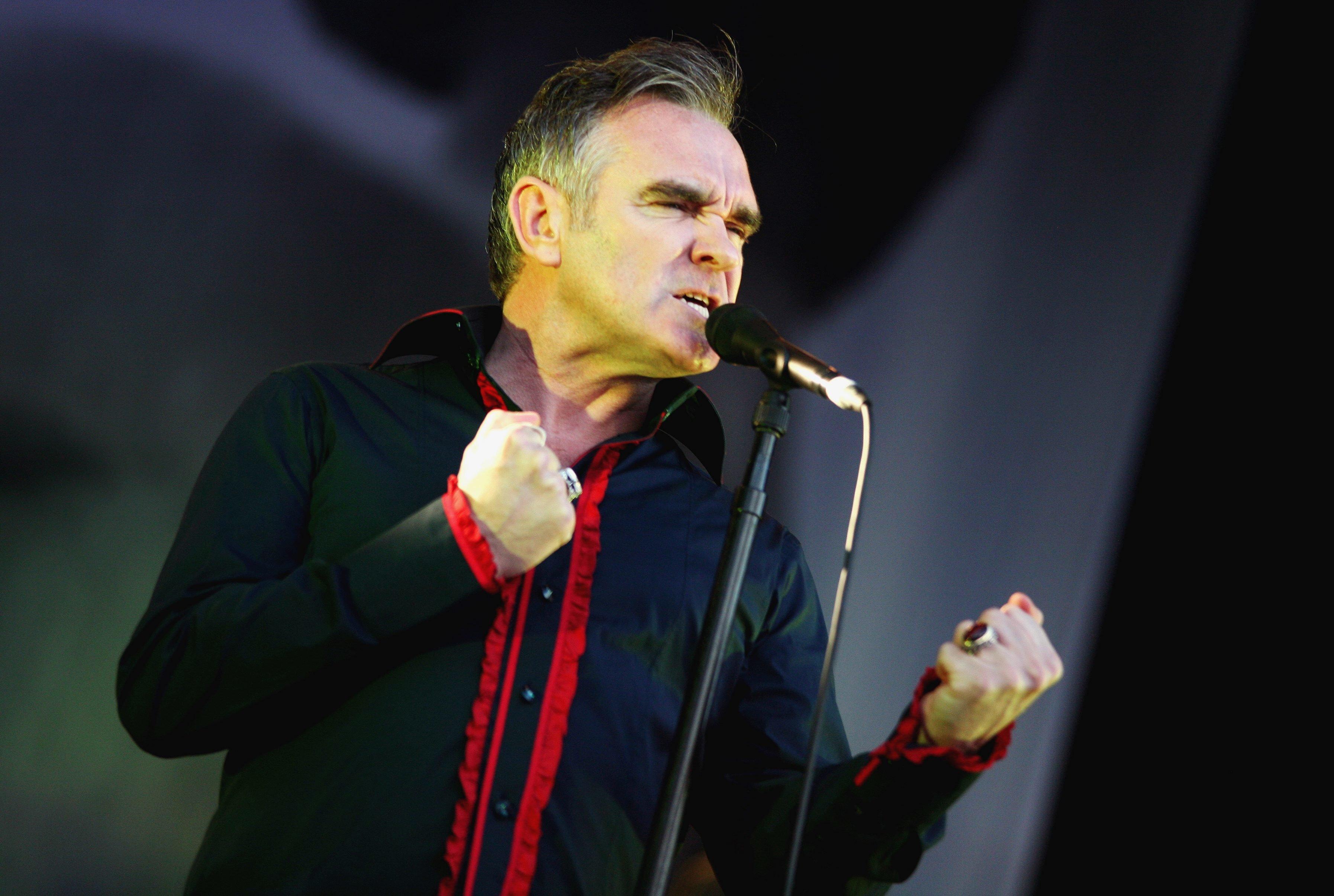 (GERMANY OUT) Sänger Steven Patrick Morrissey (GBR) anlässlich eines Konzerts in der Zitadelle Spandau in Berlin   (Photo by snapshot-photography/ullstein bild via Getty Images)