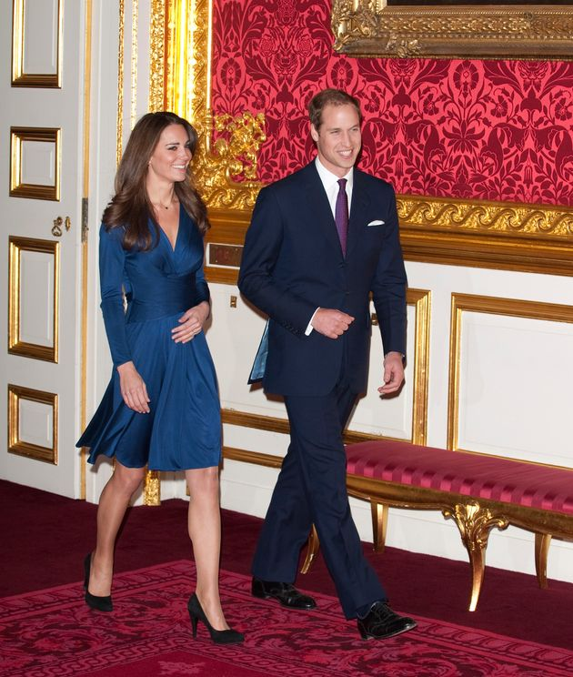 Formal: Prince William and Kate Middleton at a photocall for their engagement in