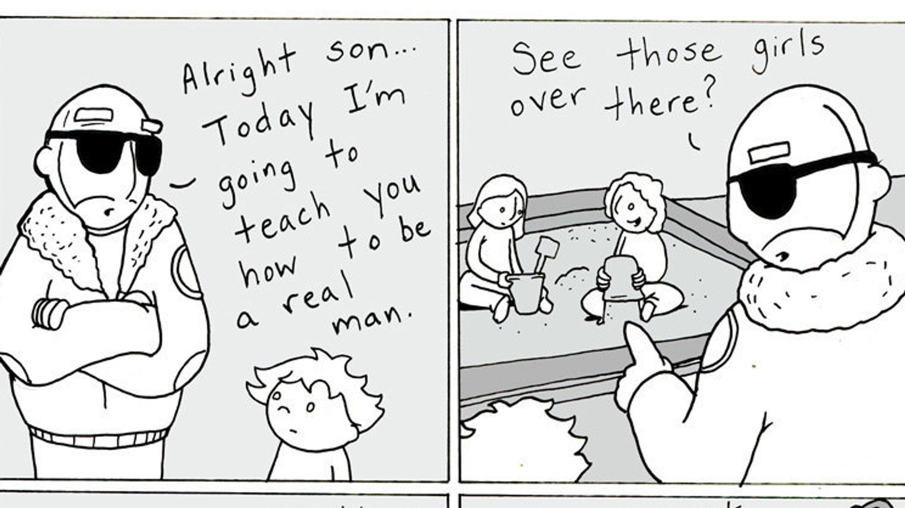 Dad's Sweet Comics Promote Empathy, Tolerance And Love