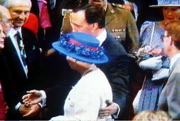 Faux pas: Paul Keating was roundly pilloried for putting his arm around the Queen during an official