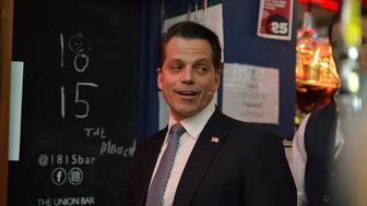 CAMBRIDGE, CAMBRIDGESHIRE - OCTOBER 18:  Anthony Scaramucci at The Cambridge Union on October 18, 2017 in Cambridge, Cambridgeshire.  (Photo by Alisa Molotova/Getty Images)