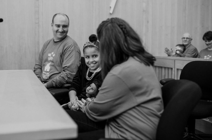 """""""On National Adoption Day, Jada, age 9, was officially adopted, and the joy was felt by all."""" -- Brandi-lin Ebersole"""