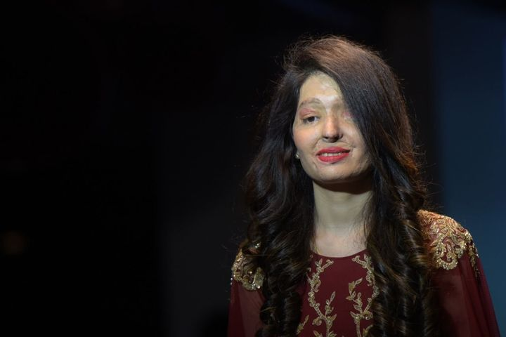 Indian acid attack victims took part in a fashion show dedicated to bravery and confidence.