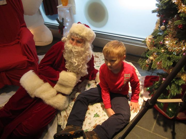 Kerry Magro offers sensory friendly visits with Santa, in which he dresses as the man in red.