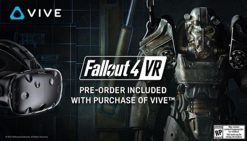 Software bundles abound. Vive thinks this AAA title from Bethesda Softworks will move a lot of headsets.