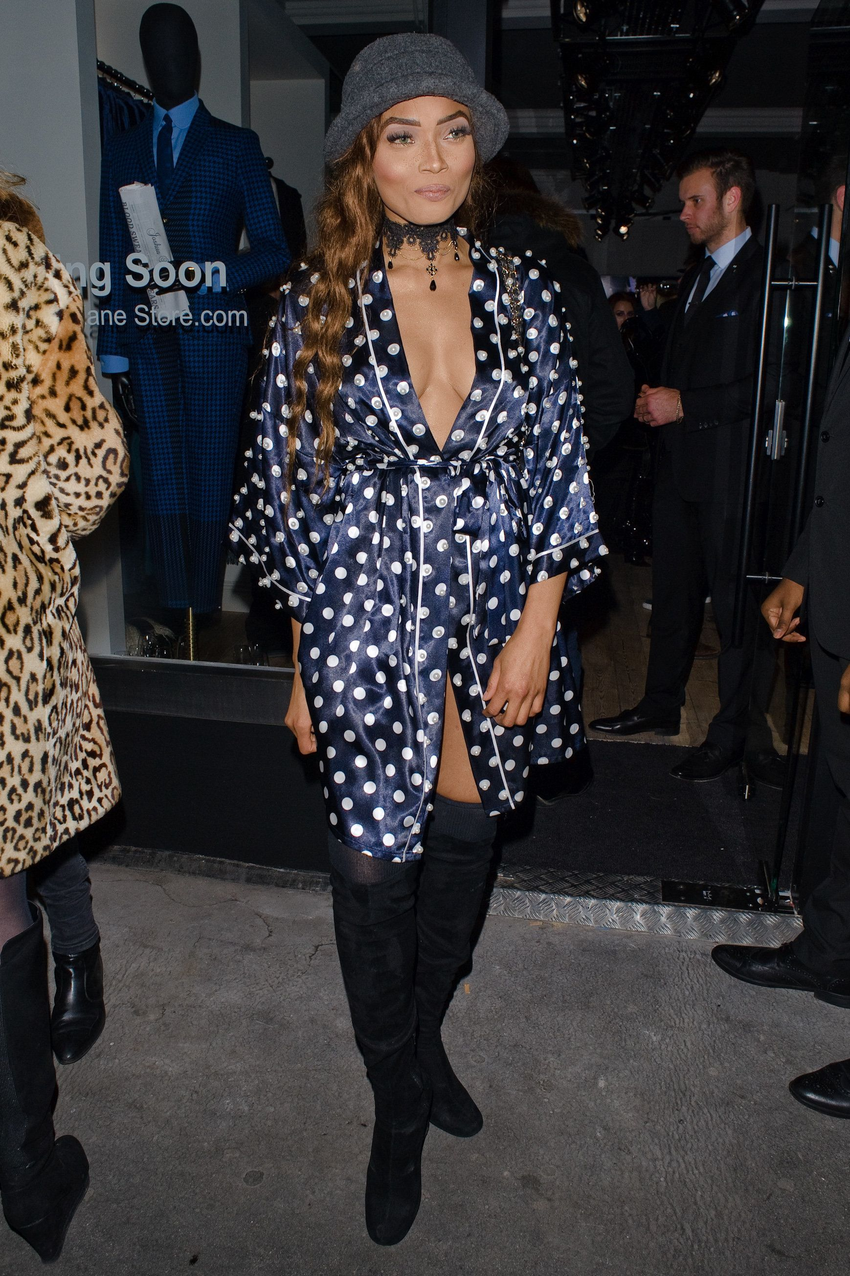 British actress Kadian Noble attends a London event in December 2016