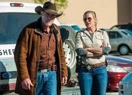 "Robert Taylor and Katee Sackoff in ""Longmire"""