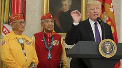 Donald Trump Honours Native Americans In Front Of Portrait Of 'Indian
