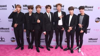 LAS VEGAS, NV - MAY 21:  K-Pop sensations, group BTS attend the 2017 Billboard Music Awards at the T-Mobile Arena on May 21, 2017 in Las Vegas, Nevada.  (Photo by C Flanigan/Getty Images)