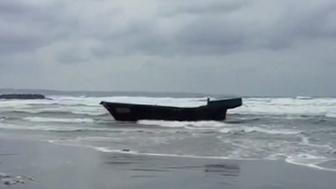 This ghost ship that washed ashore in Japan was found carrying eight bodies authorities said