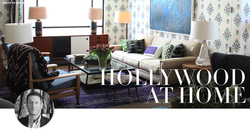 DESIGNER AND OWNER OF HOLLYWOOD AT HOME PETER DUNHAM IS A FORCE TO BE RECKONED WITH HIS STYLE HAS BEEN DESCRIBED AS RESTRAINED KICK
