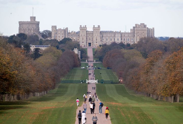 A view of Windsor Castle.