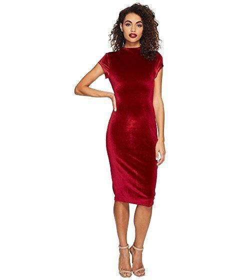 """Let your curves do the talking with the 1960s chic of a <a href=""""https://www.zappos.com/p/unique-vintage-velvet-holly-wiggle-"""