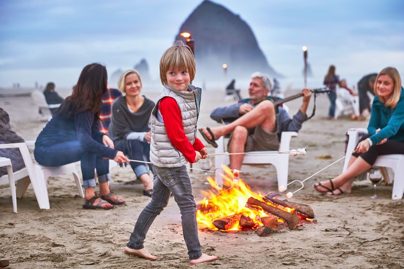 Family-friend Surfsand Resort caters to the little ones with S'mores every night.