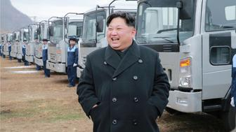 North Korean leader Kim Jong Un inspects the Sungri Motor Plant, in this undated picture provided by KCNA in Pyongyang on November 21, 2017. KCNA via Reuters ATTENTION EDITORS - THIS IMAGE WAS PROVIDED BY A THIRD PARTY. REUTERS IS UNABLE TO INDEPENDENTLY VERIFY THIS IMAGE. SOUTH KOREA OUT. NO THIRD PARTY SALES. NOT FOR USE BY REUTERS THIRD PARTY DISTRIBUTORS.