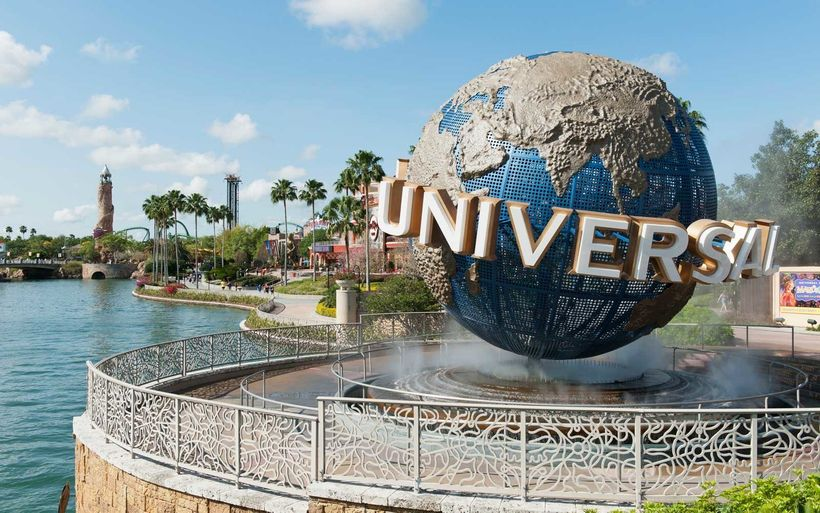 Universal Globe- Entrance to the park