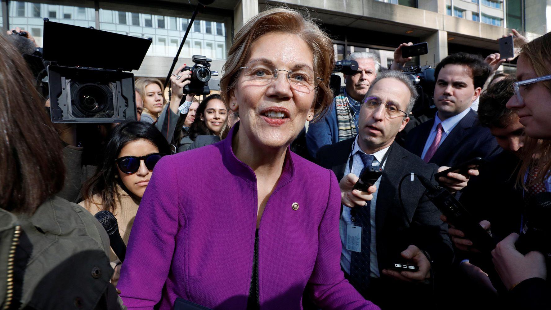 Elizabeth Warren Rallies Supporters Against Trump's Consumer