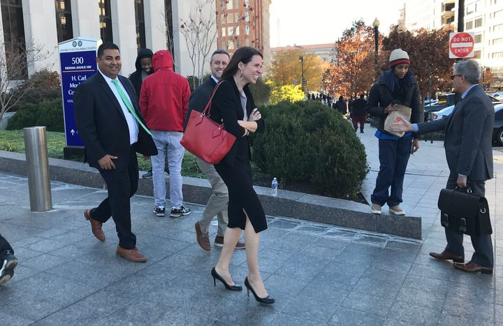 Assistant U.S. Attorney Jennifer Kerkhoff is leading the prosecution of the first six defendants to go on trial in connection with the mass arrests on Inauguration Day. Assistant U.S. Attorney Rizwan Qureshi, left, is assisting on the case.