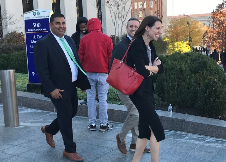 Assistant U.S. Attorney Jennifer Kerkhoff (right) is leading the prosecution of several defendants arrested during a protest